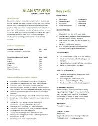 Entry Level General Labourer Resume Template For Cv Students Student First Job Pdf