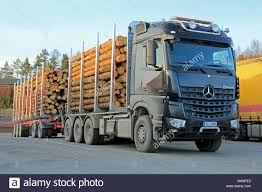 SALO, FINLAND - MARCH 22, 2014: Mercedes-Benz Arocs 3263 Timber ...