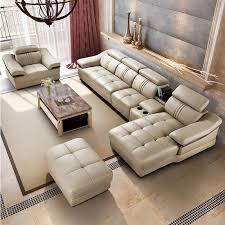 leder sofa wohnzimmer ecke sofa set 6 stücke