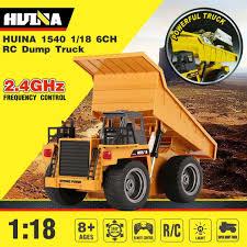 100 Rc Model Trucks Hot HUINA 1540 118 24G 6CH Alloy Version 360 Degree Rotation RC