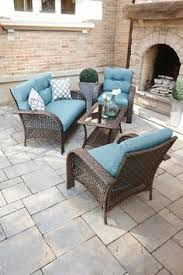 Patio Cushions Walmart Canada by Hometrends Tuscany 4 Piece Cushioned Wicker Conversation Set