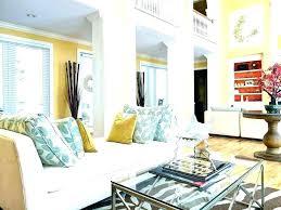 Blue Gray Living Room Yellow Grey