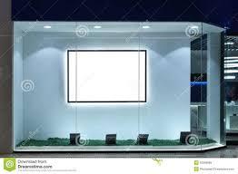 Empty Shop Window Stock Illustration Image Of Clothing 55346089