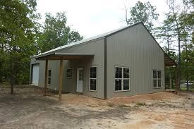 How e Man Built His Pole Barn House