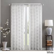 Kohls Triple Curtain Rods by Madison Park Iris Embroidered Diamond Sheer Curtain Panel 50x95