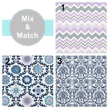 Moroccan Lattice Curtain Panels by Purple Lavender Aqua Navy Curtain Panels Blue Damask Window