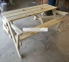 convertible folding picnic bench table woodchuckcanuck com