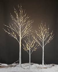Amazon Lightshare 4FT 48L LED Birch Tree 10L Icicle TwinklingWhite Blue Decoration LightHome Festival Party ChristmasIndoor And Outdoor Use