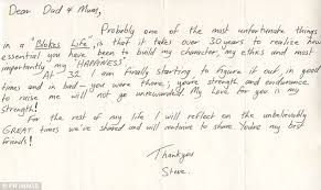 Steve Irwin s letter to his parents before his