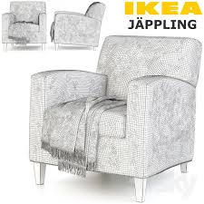 Ikea Jappling Chair Cover by 3d Models Arm Chair Ikea Jappling