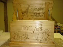 gallery of carvings on toy boxes with special messages busy bee