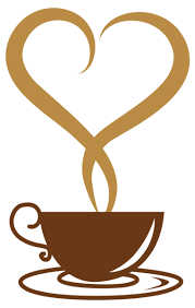 Deco Coffee Cup With Heart PNG Vector Clipart