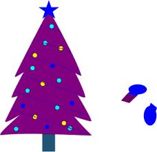 Christmas Tree Clipart Purple 9