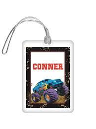 100 Monster Truck Decorations Personalized Bag Tag Each Discount Party