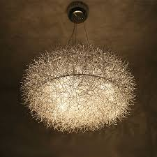 20 aluminium draht nest esszimmer pendelleuchte glas ei restaurant studie raumleuchte glas oval 8 lichter pendelleuchte