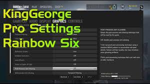 siege audio console rainbow six settings pro player kinggeorge