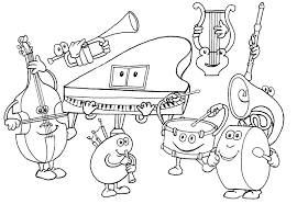 Elegant Coloring Pages Music 81 About Remodel Print With