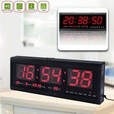 led digital uhr wanduhr mit temperatur datum kalender