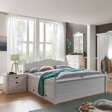 landhaus schlafzimmer aus kiefer in weiß laburita mit bett 180x200 5 teilig