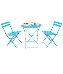 Deneb Bistro Metal Outdoor Set - Blue - Buy Deneb Bistro Metal Outdoor Set  - Blue Online At Best Prices In India On Snapdeal