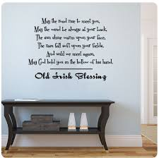 amazon com old irish blessing wall decal sticker art mural home