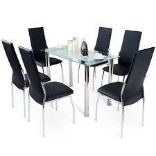 100 6 Chairs For Dining Room Costway Costway Modern Glass Table Set Tempered Glass Top
