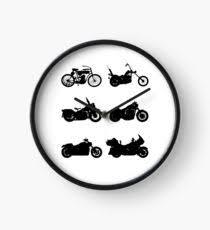 History Of Harley Davidson Clock