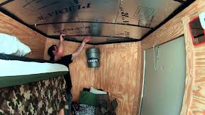 We Bought A New Vnose Enclosed Trailer Time To Convert Into Stealth Camper This Video Are Insulating And Paneling For The Roof Used Camping