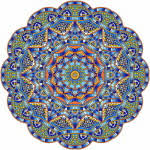 This Adult Coloring Book Sampler Is Created From Images Out Of 12 Previously Published Original Ironpower Publishing Mandala Books