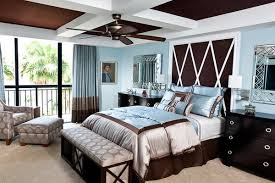 Brown and blue interior color schemes are earthy and elegant When