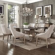Janelle Extended Rustic Zinc Dining Set