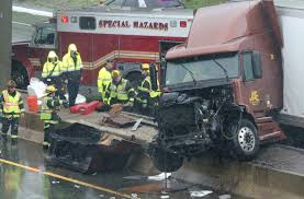 Tractor-trailer Crash Jams Ups Traffic On 195 In East Providence ...