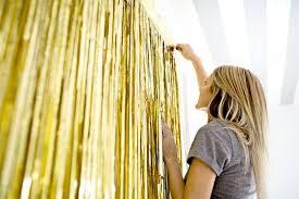 metallic gold foil fringe curtain 3 ft x 8 ft foil party