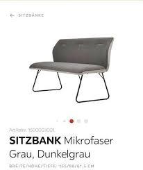 mikrofaser sitzbank esszimmer novel