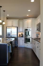 White Kitchen Cabinets With Dark Floors Home Design Ideas Pertaining To