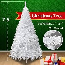 75FT Tall Christmas Tree With Stand White