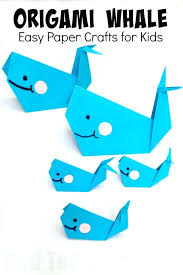 Origami Kids Crafts Ye Craft Ideas Easy Whale Paper For And With Regard Projects Step By