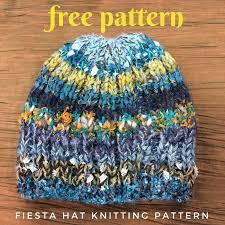Fiesta Hat Free Knitting Pattern