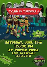 Ninja Turtle Pumpkin Designs by Teenage Mutant Ninja Turtles Invitations Cloveranddot Com