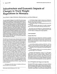 100 Truck Axle Weight Limits PDF Infrastructure And Economic Impacts Of Changes In