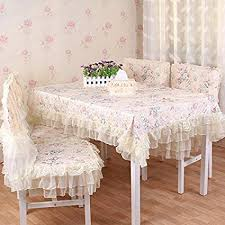 Table Cloth Rustic Dining Tea Chair Covers Set Cushion Towel