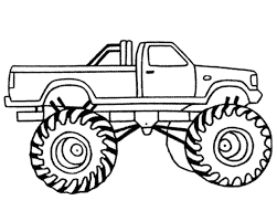 Monster Truck Clip Art Black And White To Draw Bigfoot Kids The With ...