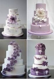 Beautiful Cake Beautiful Assorted Purple Accented Wedding Cakes Cakes with Flowers Purple