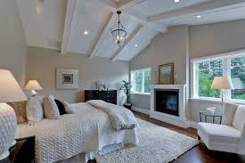 Cozy Master Bedroom Lighting Ideas Vaulted Ceiling