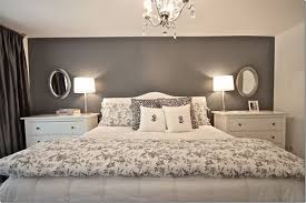 This Master Bedroom Looks Very Nice Big And Tall With A Dark Gray Accent Wall