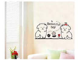 Cute Dog Animal Kids Wall Decals Quotes Princess Love Retro Art Within Sayings