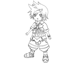 Homely Ideas Kingdom Hearts Coloring Pages Color