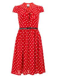 sally polka dot tea dress joanie clothing