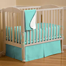 Solid Teal Mini Crib Bumper