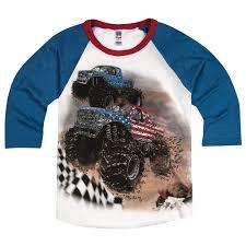 100 Monster Truck Shirts That Go Little Boys Go USA S Racing Raglan T